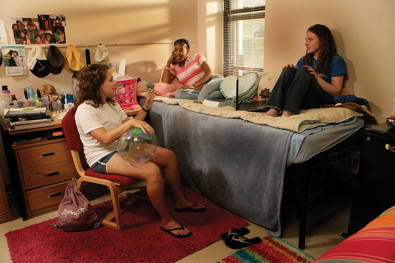 students in Burdick Hall room