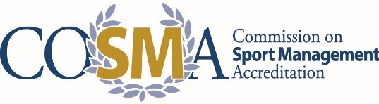 COSMA logo Commission on Sport Management Accreditation