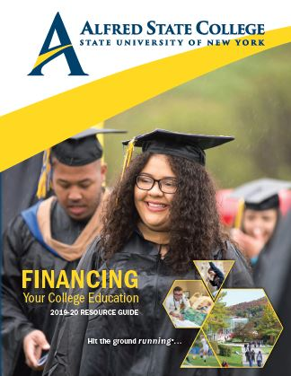 Financing Your College Education (PDF) guide. Cover depicts a girl wearing a commencement cap and gown.