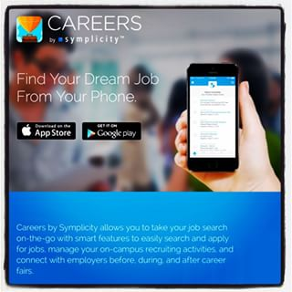 Careers, find your dream job from your phone, picture of a cell phone held in a hand