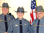 Lt. Jeff Wilcox, Stephen Crouch, and Chief Matthew Heller