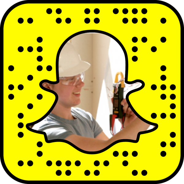 Snapcode to electrical department web page