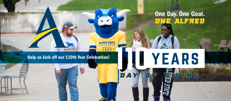 students and mascot. help us to kick off our 110th year celebration