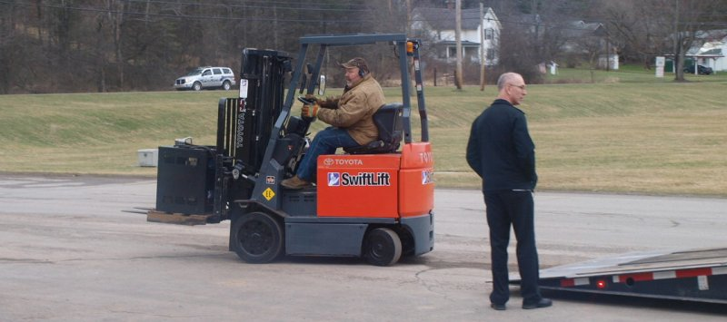 Alfred State's new forklift.