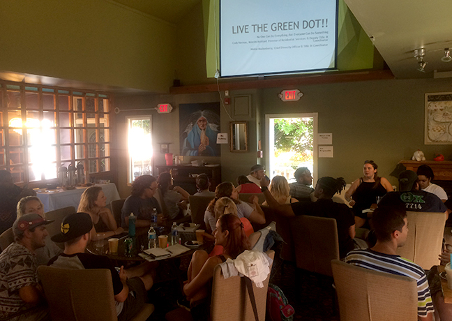 community members at Terra Cotta Coffee House for Green Dot training
