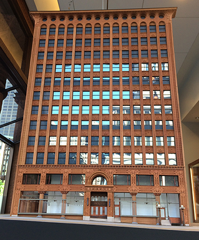 Alfred State student-built model of the Guaranty Building in Buffalo