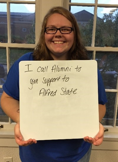 Hannah Depp-Yates - I call alumni to give support to Alfred State