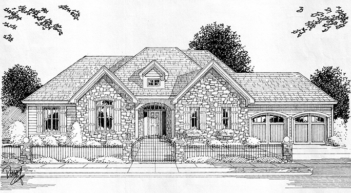 rendering of Alfred State's House 54 in Wellsville