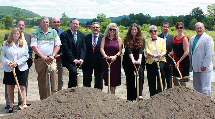 representatives at groundbreaking of Alfred State's new Advanced Manufacturing Center