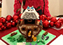 Noah's Arc-themed gingerbread house