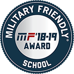 2018-2019 Military Friendly® School logo