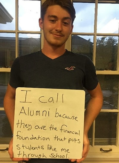 Nick Ambos - I call alumni because they are the financial foundation that puts students like me through school