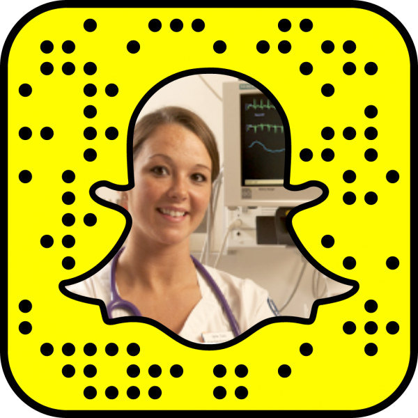 Snapcode linking to nursing web page