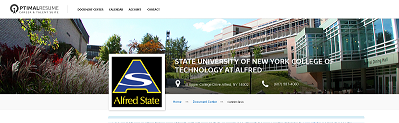 image of banner on optimalresume site, picture of the Alfred State campus