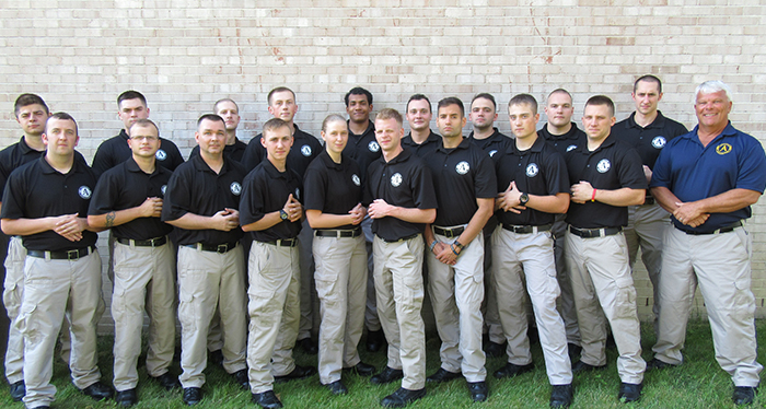 police academy students in uniform