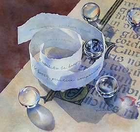 """Practice Compassion,"" a watercolor painting by artist Barbara Fox"