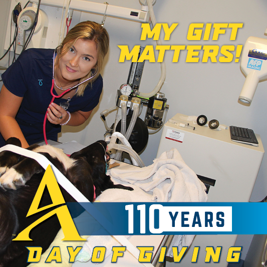 my gift matters female student in a radiology lab
