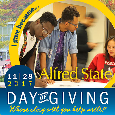 i gave because.... 11-28-17 alfred state day of giving