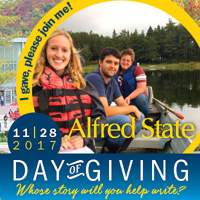 i gave, please join me, alfred state day of giving 11-28-17