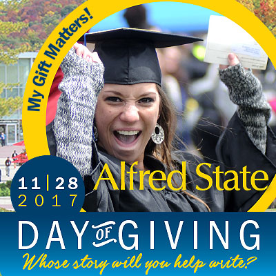 my gift matters, 11-28-17 day of giving, alfred state