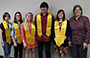 students inducted into Psi Beta honor society 2015