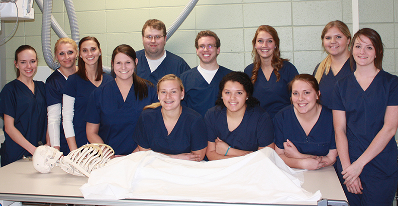 students in Alfred State's radiologic technology program