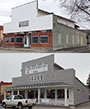 before-and-after photos of the building that now houses the Andover and Allegany County historical societies.