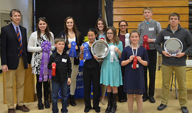 students who were awarded for their science and technology projects April 8, 2016