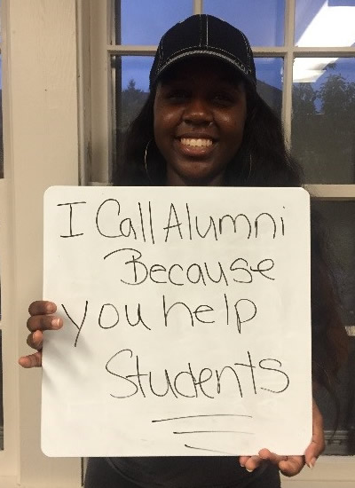 Shavonne Noble - I call alumni because you help students