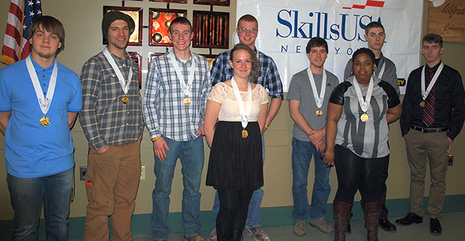 2015 SkillsUSA New York State Leadership and Skills Conference Postsecondary Championship winners