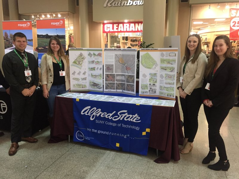 Students present work at statewide conference.