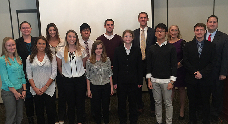 students at the Rochester Financial Planning Association's event