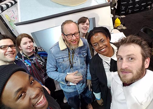 Alfred State professor and students at the Sundance Film Festival