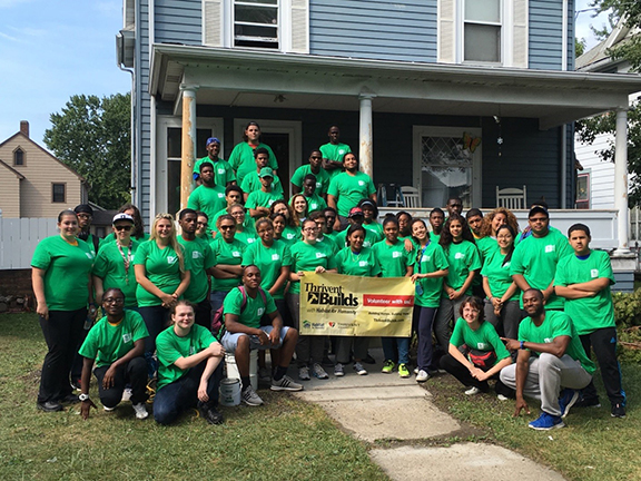 40 incoming freshman Alfred State students worked with Habitat for Humanity