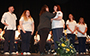 nursing students on stage at their pinning ceremony