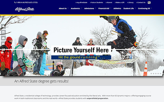 www.alfredstate.edu home page