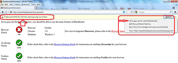 Blackboard Firefox block ops message