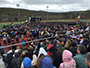 people in Pioneer Stadium attending Commencement