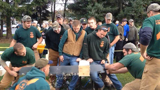 Pioneer Woodsmen's Club at competition