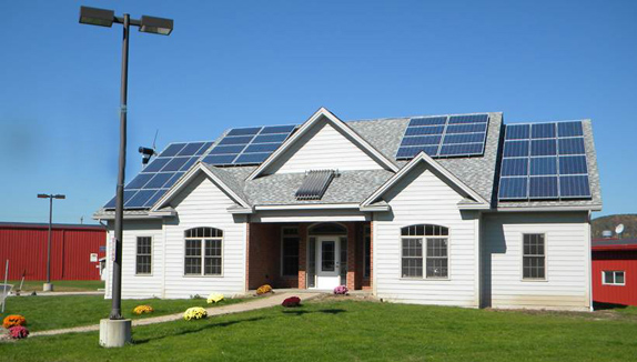 Zero energy home on the Wellsville campus