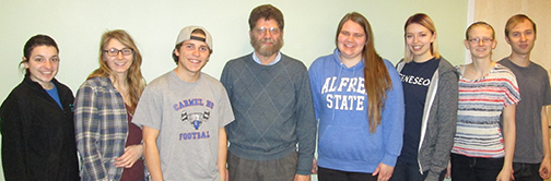The Honors program students pictured with Emeritus Professor John Buckwalter