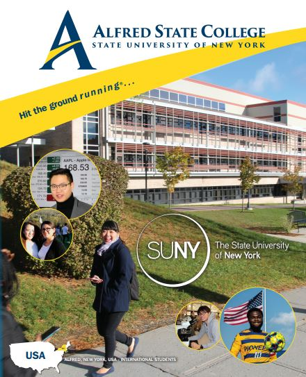 cover of international brochure with logo