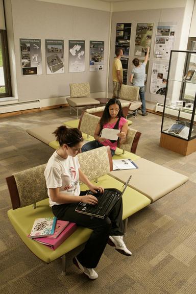inside Hinkle Library