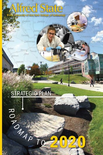 Alfred State strategic plan, roadmap to 2020, image of rocks on campus