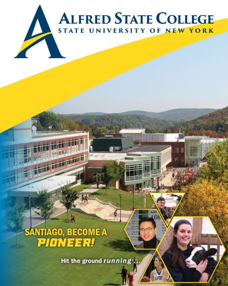 cover of viewbook with school logo