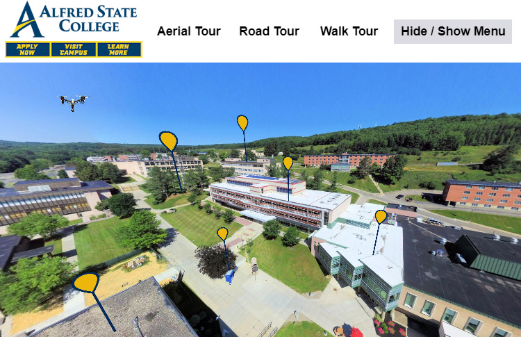 link to Alfred State College Virtual Tour server