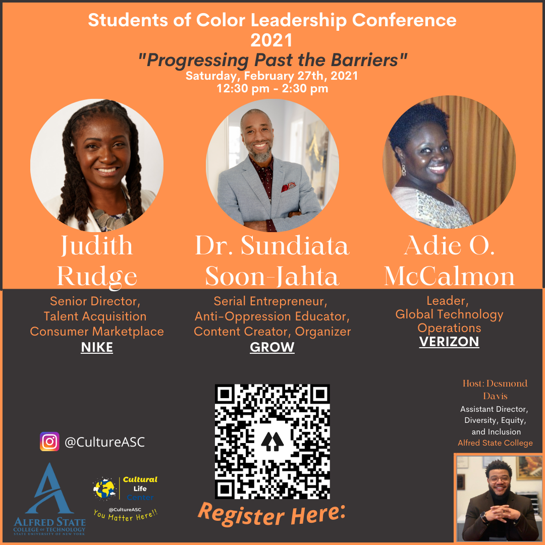 Students of Color Leadership Conference Poster