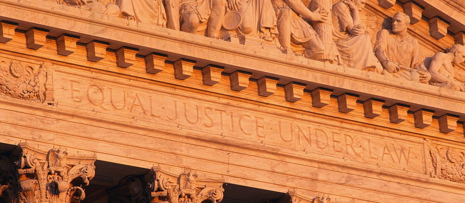building that says equal justice under law