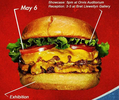 cheeseburger, May 5 exhibit, 5 p.m. Orvis