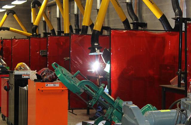 senior welding lab